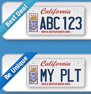 California Pet Lover's License Plate Chiwah Carol Slater Petwrites.com