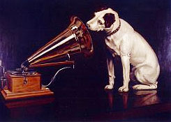 RCA Victor Logo with Nipper the Dog Chiwah