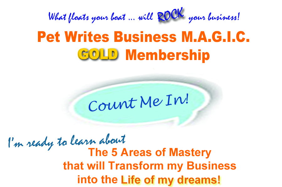Pet Writes Business MAGIC GOLD Membership