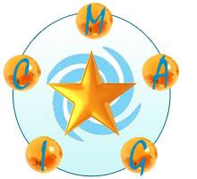 MAGIC Star logo, blue spiral