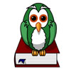 Book with Green Owl on it